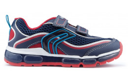 Scarpe bambino GEOX ANDROID luci NAVY_RED